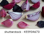 collection of fresh purple... | Shutterstock . vector #455934673