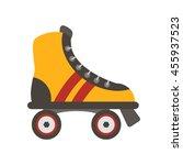 Roller Shoes Flat Vector...
