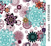 mandala pattern  floral... | Shutterstock .eps vector #455938048