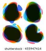 set of round colorful ink spot. ... | Shutterstock . vector #455947414