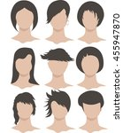 many different hairstyles for... | Shutterstock .eps vector #455947870