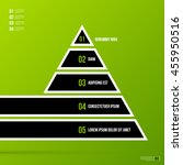 pyramid chart template on fresh ... | Shutterstock .eps vector #455950516