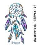Dreamcatcher  Feathers. Hand...