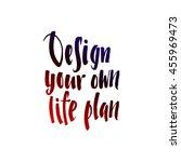 calligraphic motivation quote... | Shutterstock .eps vector #455969473
