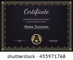 certificate  diploma of... | Shutterstock .eps vector #455971768