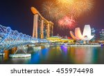 singapore national day...   Shutterstock . vector #455974498