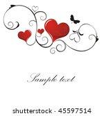 heart valentines day background | Shutterstock .eps vector #45597514