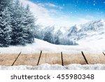 winter blue landscape of alps... | Shutterstock . vector #455980348