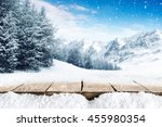 winter blue landscape of alps... | Shutterstock . vector #455980354
