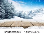 winter blue landscape of alps... | Shutterstock . vector #455980378