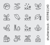 plants and growth line icon | Shutterstock .eps vector #455981140