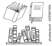 books icon isolated on white... | Shutterstock .eps vector #455987404