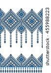 embroidered old handmade cross... | Shutterstock .eps vector #455988223