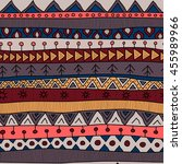 tribal multicolor seamless... | Shutterstock .eps vector #455989966