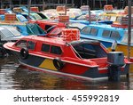 colorful passenger boat in... | Shutterstock . vector #455992819
