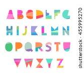 vector cute hipster handwriting ... | Shutterstock .eps vector #455995270