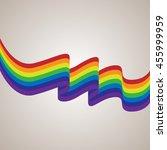 vector gay flag. gay pride flag.... | Shutterstock .eps vector #455999959