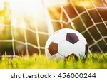 soccer ball in goal | Shutterstock . vector #456000244
