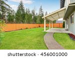 covered backyard patio with... | Shutterstock . vector #456001000