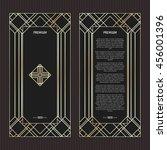vector geometric cards in art... | Shutterstock .eps vector #456001396