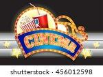neon sign. cinema | Shutterstock .eps vector #456012598