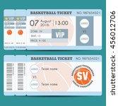 basketball ticket modern design.... | Shutterstock .eps vector #456012706