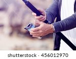 picture of fisherman  | Shutterstock . vector #456012970