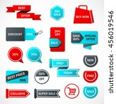 vector stickers  price tag ... | Shutterstock .eps vector #456019546