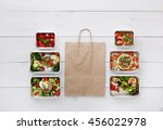 healthy food delivery  daily...   Shutterstock . vector #456022978