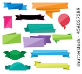 folded ribbon vectors | Shutterstock .eps vector #456027289