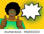happy young handsome surprised... | Shutterstock .eps vector #456032323