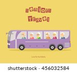 illustration of group happy... | Shutterstock .eps vector #456032584