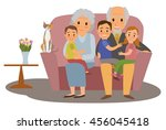 big family. happy family whith... | Shutterstock .eps vector #456045418