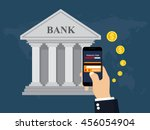 mobile banking and mobile... | Shutterstock .eps vector #456054904