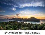 view point of phi phi island... | Shutterstock . vector #456055528