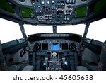 Boeing Interior  Cockpit View...