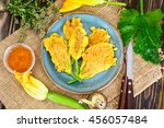 Flowers Of Zucchini  Fried In...