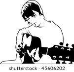 Playing Guitar Vector...