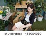 portrait of thai adult women... | Shutterstock . vector #456064090