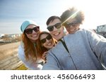 tourism  travel  people ... | Shutterstock . vector #456066493