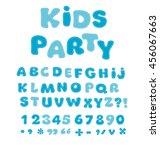 funny alphabet for children.... | Shutterstock .eps vector #456067663