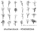 vector collection of dry trees...