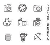 vector icon set for camerist. ... | Shutterstock .eps vector #456074110