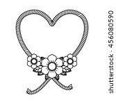heart and flowers tatto... | Shutterstock .eps vector #456080590