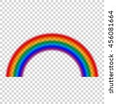 transparent rainbow  vector... | Shutterstock .eps vector #456081664