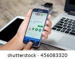 chiang mai thailand   july 21 ... | Shutterstock . vector #456083320