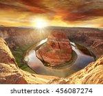 horseshoe bend scenic overlook... | Shutterstock . vector #456087274