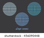 abstract striped spheres.sphere ... | Shutterstock .eps vector #456090448