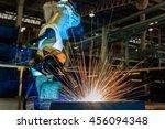 robot start welding automotive... | Shutterstock . vector #456094348
