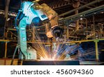 robot welding in automotive... | Shutterstock . vector #456094360